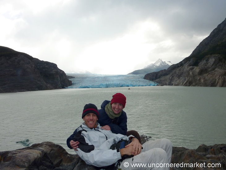 Hamming it Up at Gray Glacier - Torres del Paine National Park, Chile