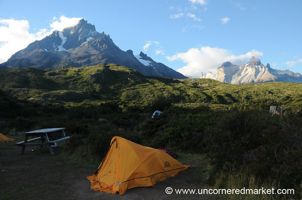 Our Tent at Paine Grande Refugio - Torres del Paine, Chile