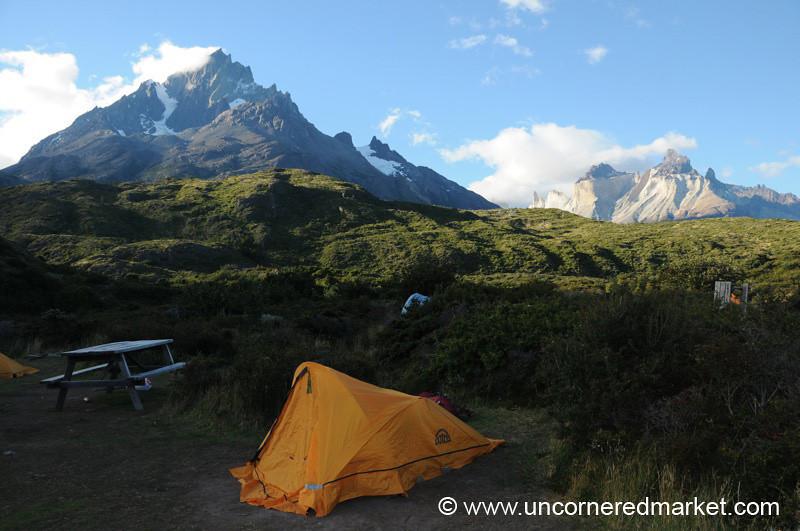 Our Tent at Paine Grande Refugio - Torres del Paine, Chile
