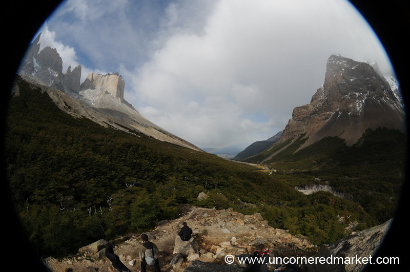 Fisheye View from Top of the French Valley - Torres del Paine, Chile