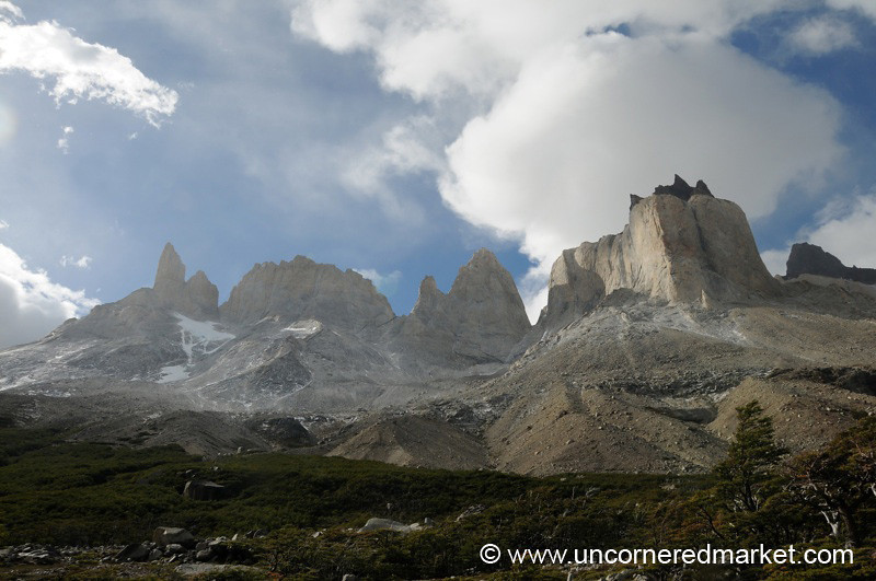 Looking Up at the Back of the Towers - Torres del Paine, Chile