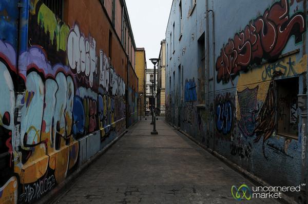 Alleyway Full of Graffiti - Valparaiso, Chile