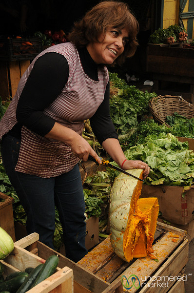 Dividing Up the Camote - Valparaiso, Chile
