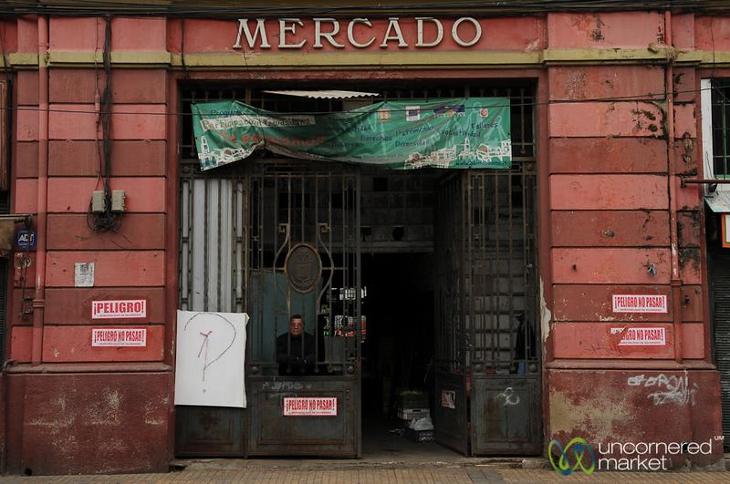 Guarding the Mercado - Valparaiso, Chile