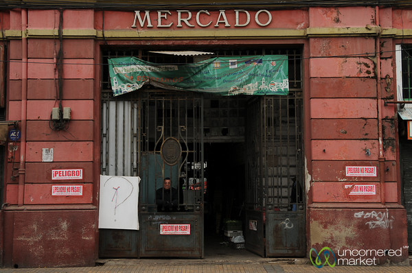 Guarding the Mercado - Valparaiso, Chile