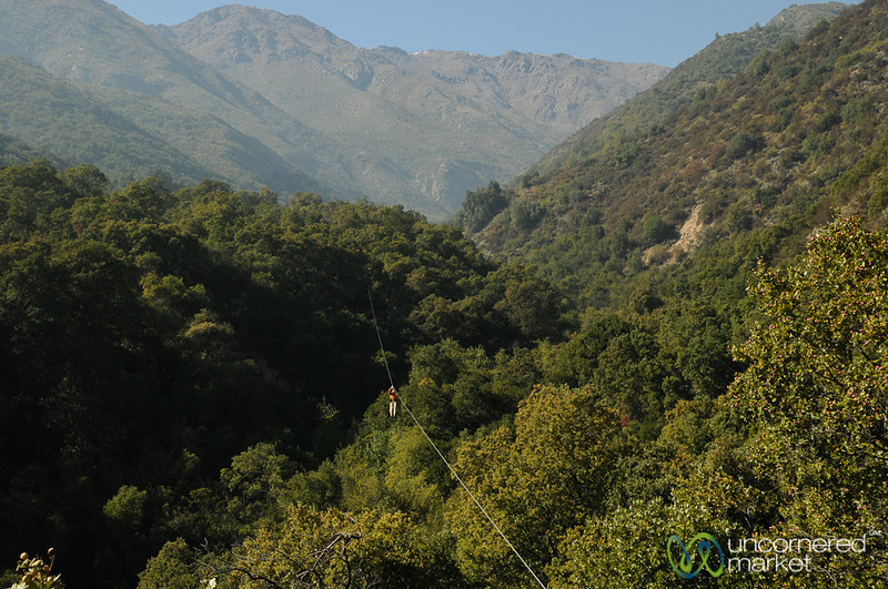 Zip Lining in Maipo Alto - La Montaña Winery, Chile