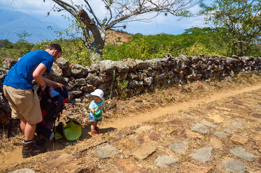 On the trail from Barichara to Guane in Colombia
