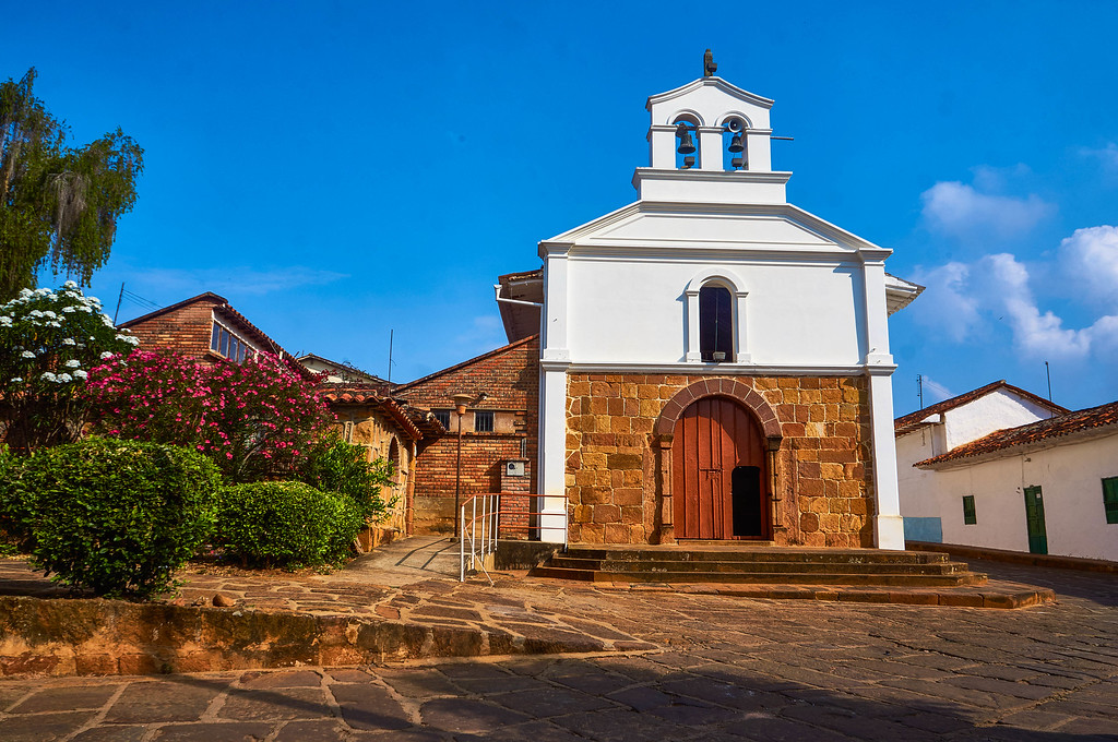 Church in Barichara, Colombia