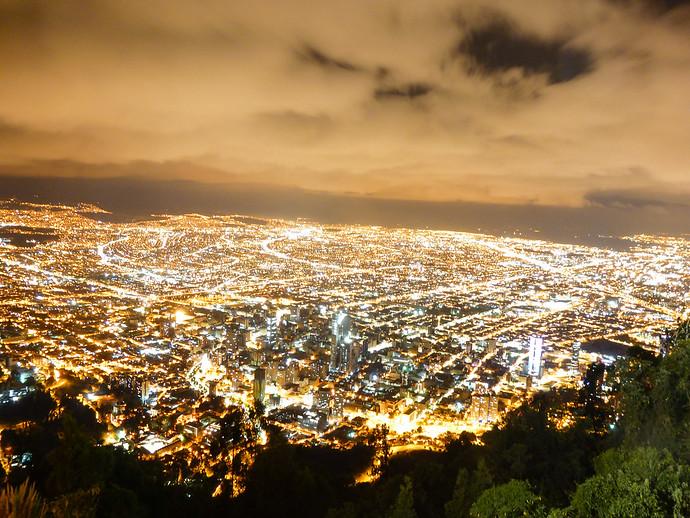 bogota night skyline