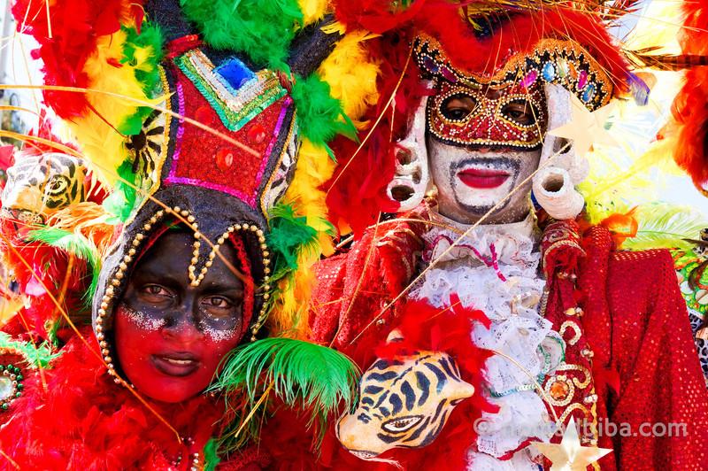 Fancy masks at Batalla de Flores 2013