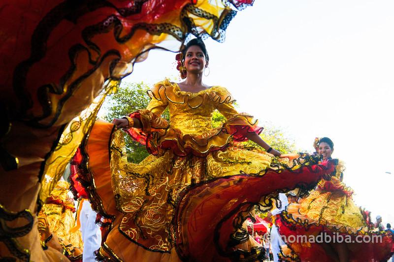 Dancers at Joselito's burial 2013