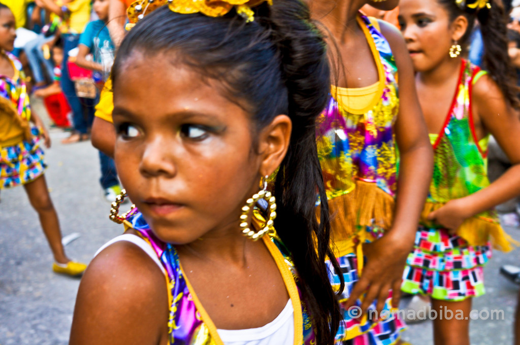 Girls at Batalla de Flores de Santo Tomás, Colombia