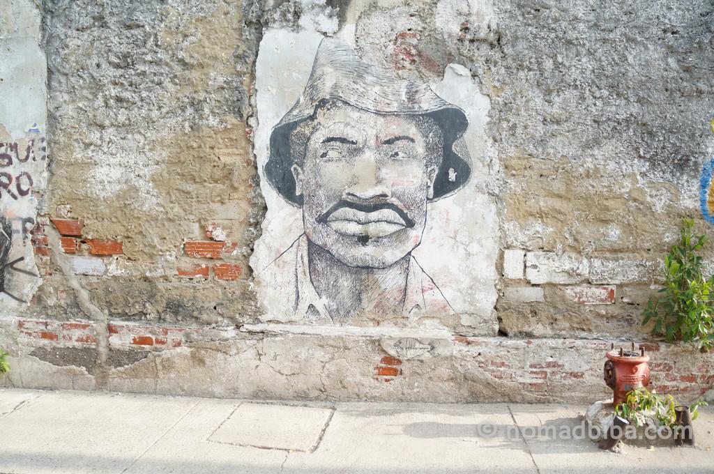 Pedro Romero street art in Cartagena, Colombia