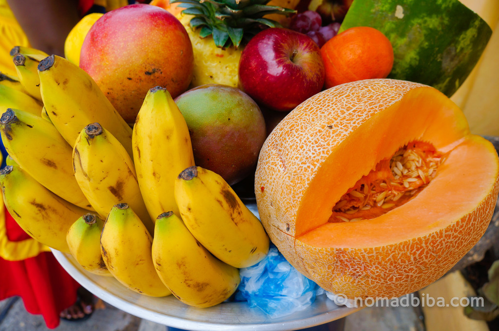 Tropical fruits in Caratagena, Colombia