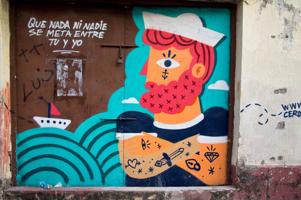 Street art by Cero in Cartagena, Colombia