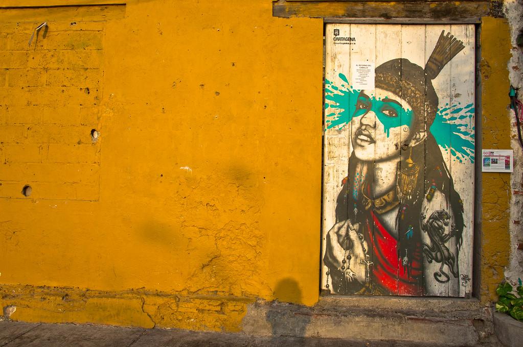 Street art by Fin DAC in Cartagena, Colombia