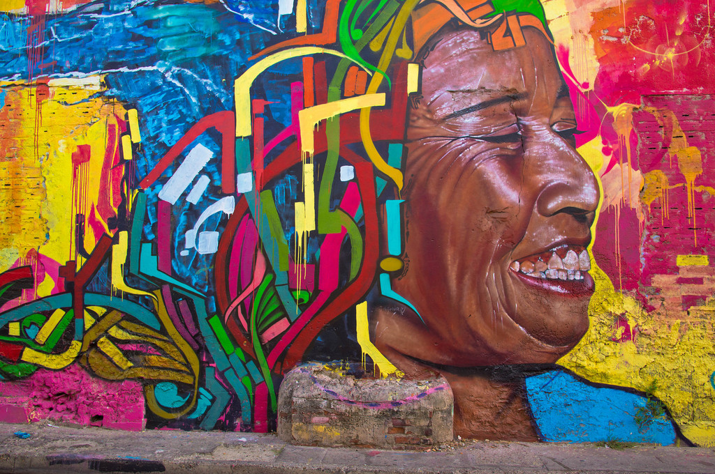 Mural by Dexs in Cartagena, Colombia