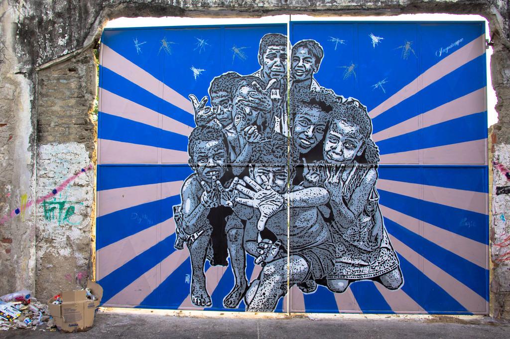 Street art by DJ Lu in Cartagena, Colombia