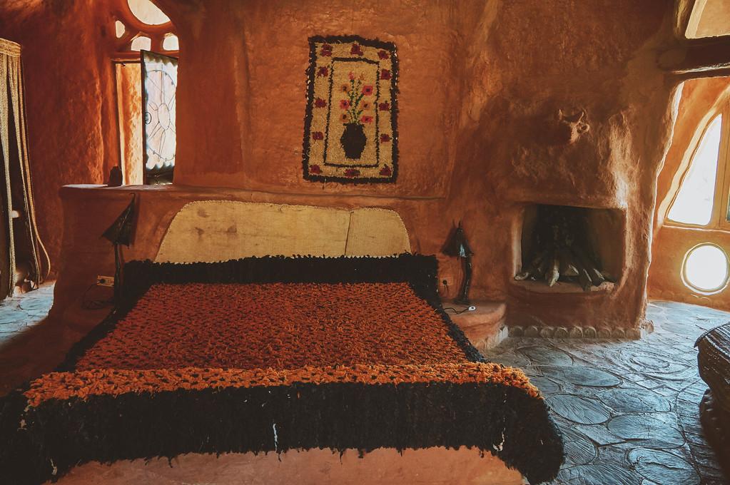 Bedroom in Casa Terracota in Villa de Leyva, Colombia.