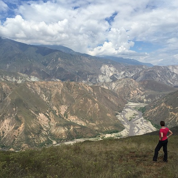"""Beauty needs #nofilter. Chicamocha National Park, Colombia. We convinced a skeptical park ranger to show us the """"back route"""" into the canyon. We took the path not taken, got a little lost, but found this. Misfortune could be worse. This is the Andes Mountains, Eastern spine. #packprAna via Instagram http://ift.tt/1ejTXBP"""