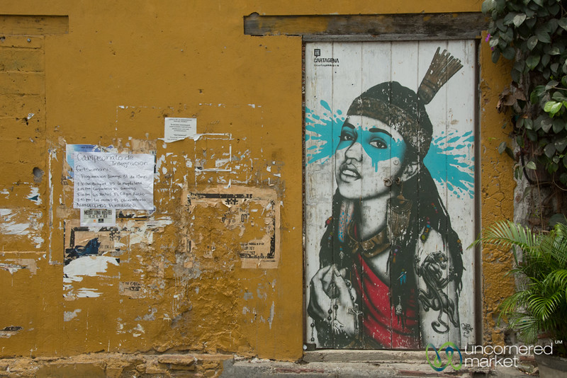 Street Art on Plaza de la Trinidad - Getsemani, Colombia
