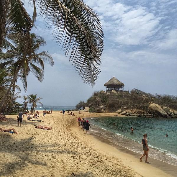 Cabo San Juan beach. The reward for a couple hour hike through Tayrona National Park along the Colombian Caribbean. via Instagram http://ift.tt/1HT2yYX