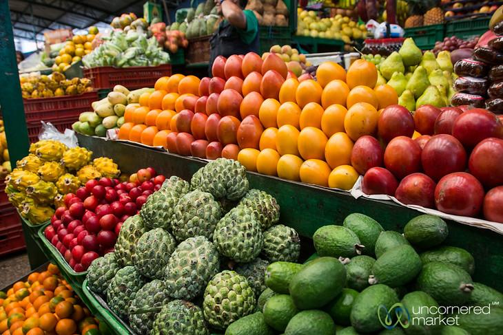 Piles of Fruit at Mercado Paloquemao - Bogota, Colombia