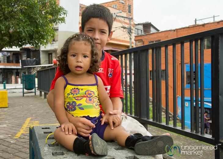 Kids in Santo Domingo Barrio - Medellin, Colombia