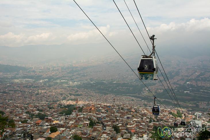 Medellin's Public Transport Cable Cars to Santo Domingo Barrio - Colombia