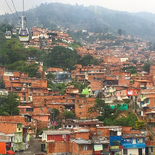 Taking Cable Cars into Hills of Medellin