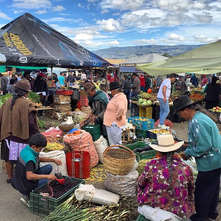 Mercado Colombiano. Villa de Leyva Saturday market. People pour in from the hills and towns nearby to sell, buy or trade. Why? Prodigious produce (avocados the size of footballs) and fabulous fruit (everything from guayaba to guanabana). And all with a touch of Andean indigenous culture. #Colombia via Instagram http://ift.tt/1HCldVT