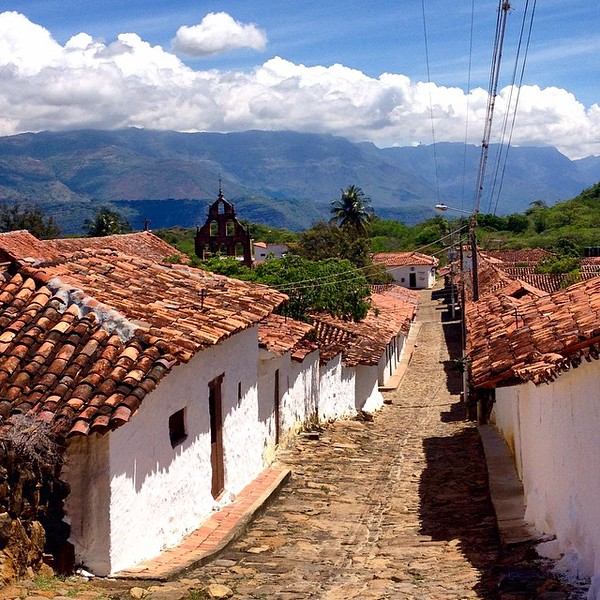 Hiking the ancient El Camino Real from Barichara leads us to Guane, a small colonial village in the hills of the eastern range of the Colombian Andes. Although the weather app on our phone showed lightning bolts, the locals knew better and told us we'd be fine on our hike. We had blazing sunshine all day. via Instagram http://ift.tt/1Fy4HXw