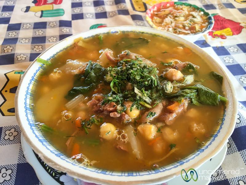 Breakfast Soup - Villa de Leyva Market, Colombia