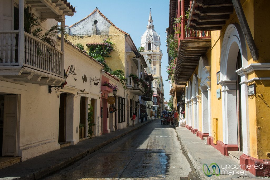 Streets of Cartagena's Old Town - Colombia