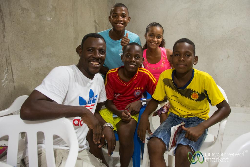 Alex Rocha and His Students - Barrio San Francisco, Cartagena, Colombia