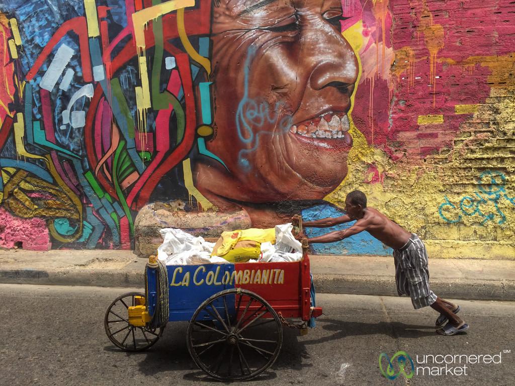 Getsemani Neighborhood of Cartagena - Colombia