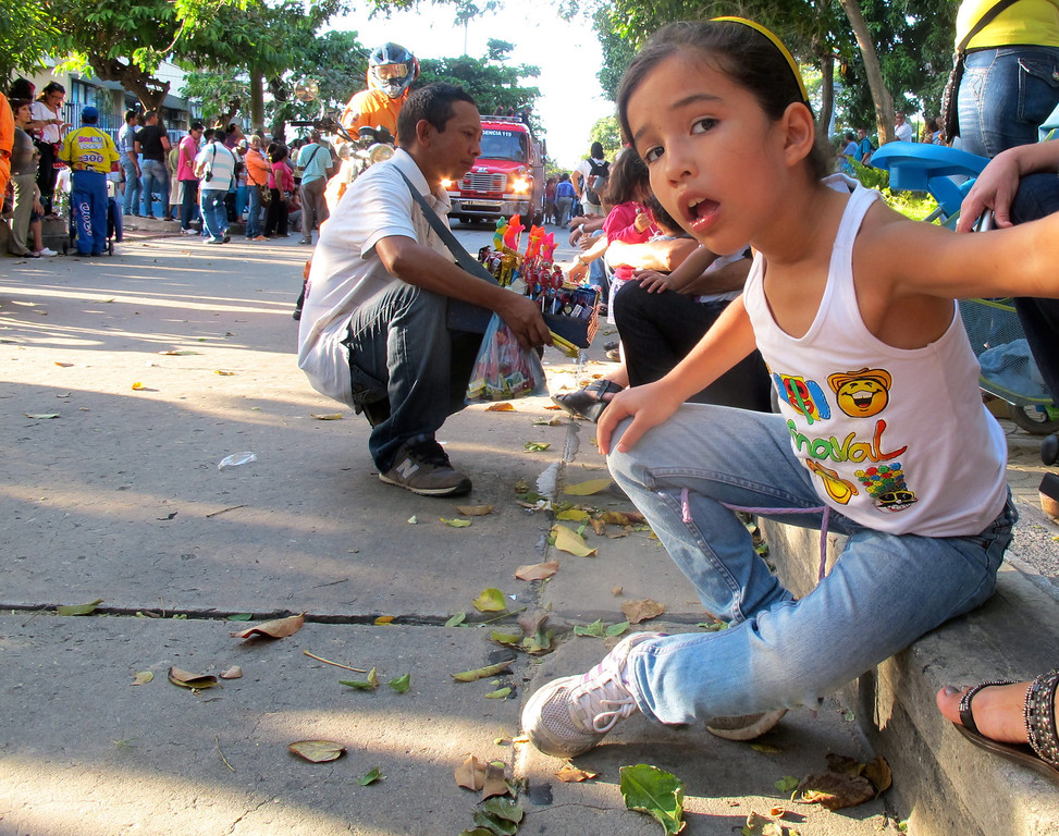 """Waiting for the parade to start For the story, check out my post: <a href=""""http://www.nomadbiba.com/wp/2012/01/an-early-start-to-barranquillas-carnival-celebrations/""""> An Early Start To Barranquilla's Carnival Celebrations</a>"""