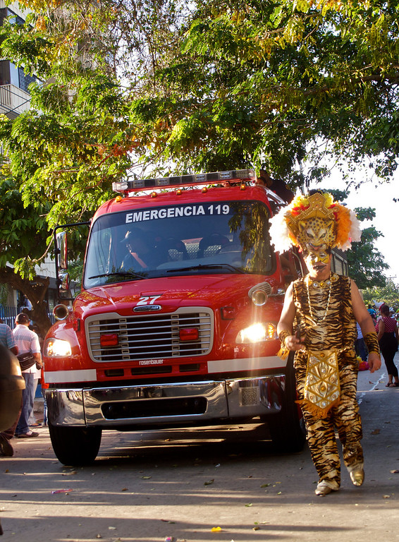 """The first ones to go... For the story, check out my post: <a href=""""http://www.nomadbiba.com/wp/2012/01/an-early-start-to-barranquillas-carnival-celebrations/""""> An Early Start To Barranquilla's Carnival Celebrations</a>"""