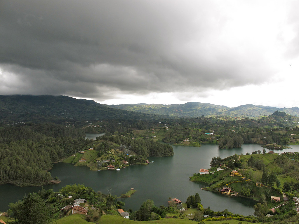 "View of the reservoir near Guatapé For the story, check out my post: <a href=""http://www.nomadbiba.com/wp/2011/07/el-penol-climbing-a-monolith/"">El Peñol – Climbing A Monolith</a>"