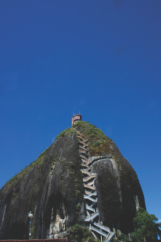 La Piedra de Guatapé, 650 steps high. July 2017