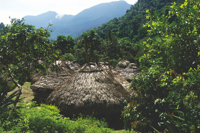 The elders of the tribes hold meetings in these huts annually. June 2017