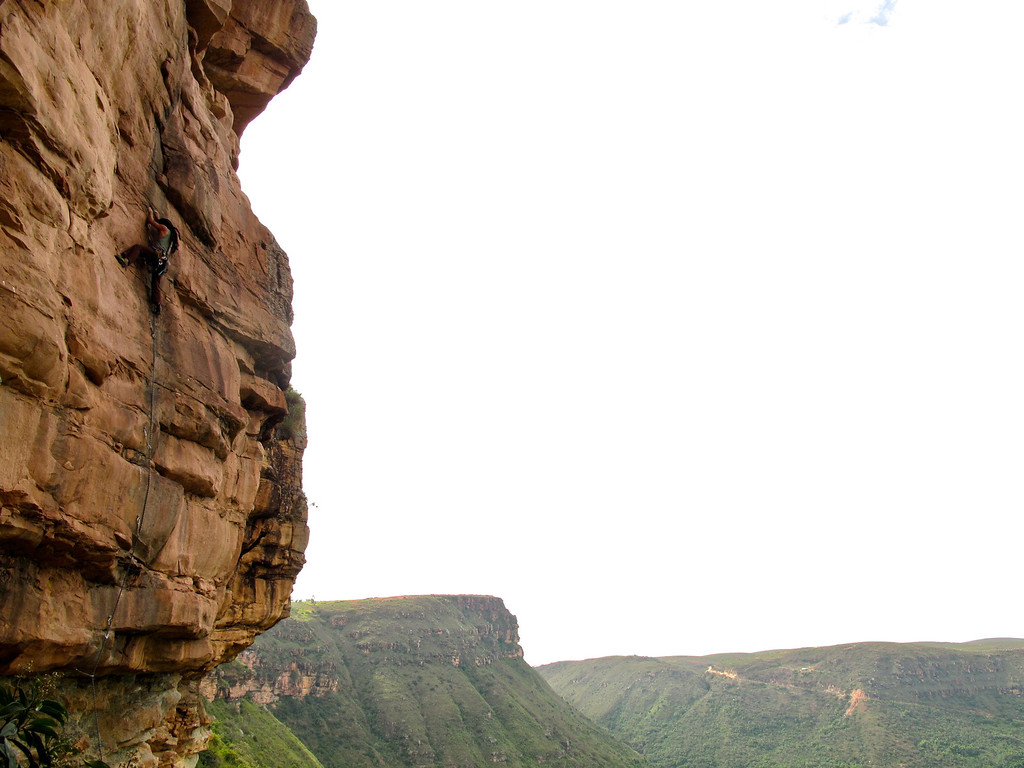 """Rock climbing in La Mojarra For the story check out my post: <a href=""""http://www.nomadbiba.com/wp/2011/09/la-mojarra-the-sun-shines-in-paradise/""""> La Mojarra – The Sun Shines In Paradise</a>"""