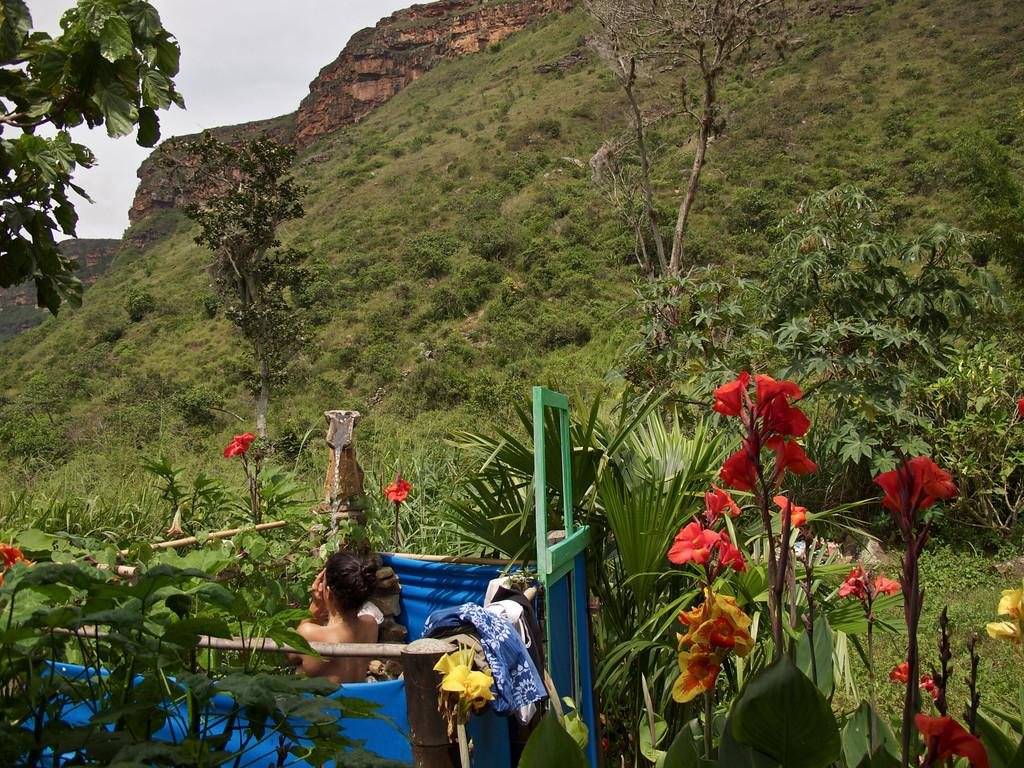 "Outdoor shower at hostal El Sol de La Mojarra For the story check out my post: <a href=""http://www.nomadbiba.com/wp/2011/09/la-mojarra-the-sun-shines-in-paradise/""> La Mojarra – The Sun Shines In Paradise</a>"