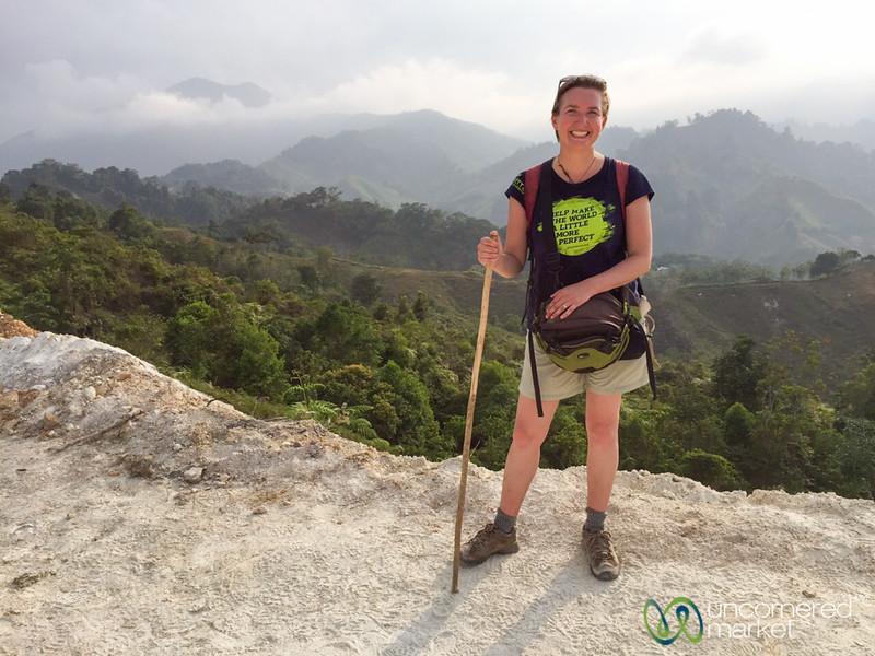 Audrey on Lost City Trek, Colombia