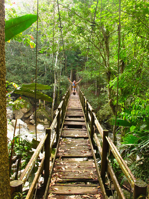 """Crossing the bridge to get to the climbing area For the story, check out: <a href=""""http://www.nomadbiba.com/wp/2011/06/maceo-searching-for-climbing-off-the-beaten-path/""""> Maceo – Searching For Climbing Off The Beaten Path</a>"""