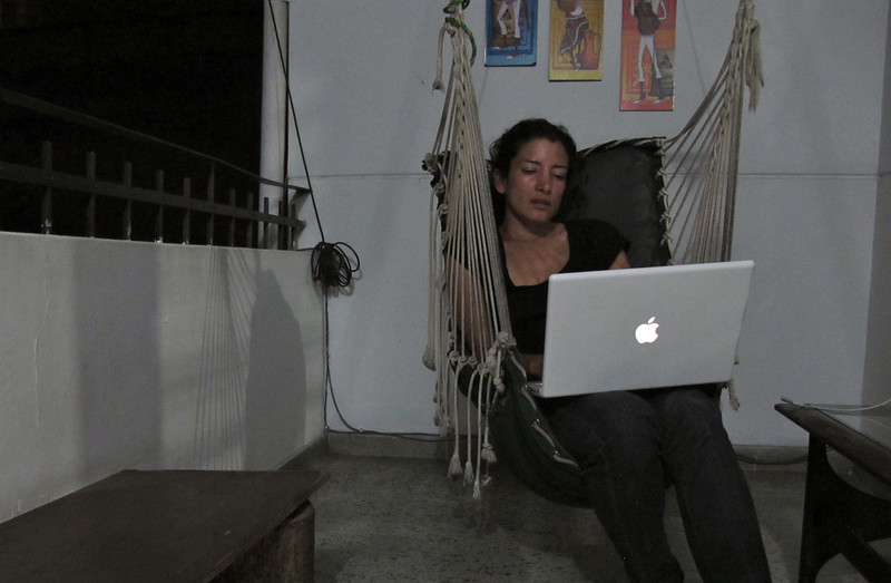Working at Hostal Medellin