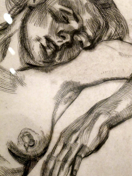 """Detail from """"Mujer Rubia"""" by Lucian Freud<br /> Museo Botero de Bogota"""