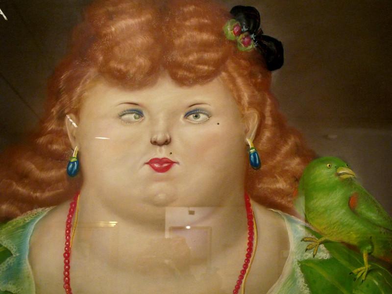 Mujer con pájaro<br /> Museo Botero de Bogota