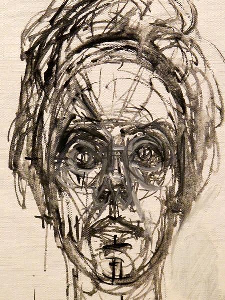 "Detail from ""Carolina Sobre Fondo Blanco"" by Alberto Giacometti<br /> Museo Botero de Bogota"