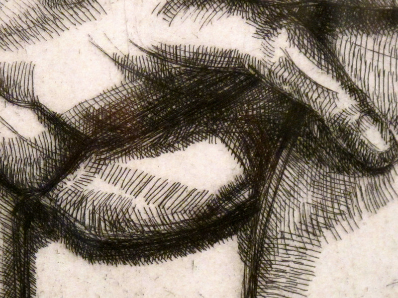 """Detail from """"Cabeza y Hombros de Mujer"""" by Lucian Freud<br /> Museo Botero de Bogota"""